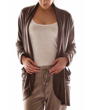 Mink Open Cardigan - Plus