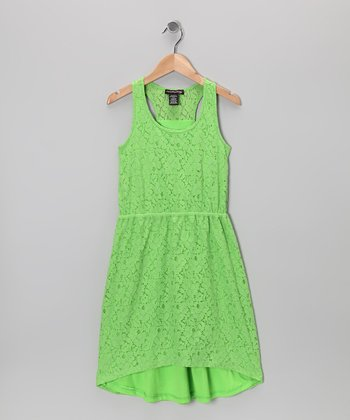 Lime Lace Dress