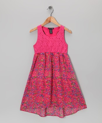 Fandango Pink Floral Dress