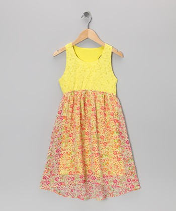 Lemonade Floral Dress