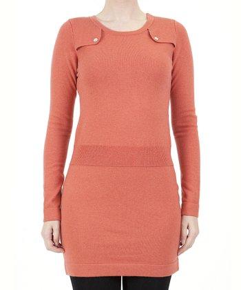 Orange Sweater Dress