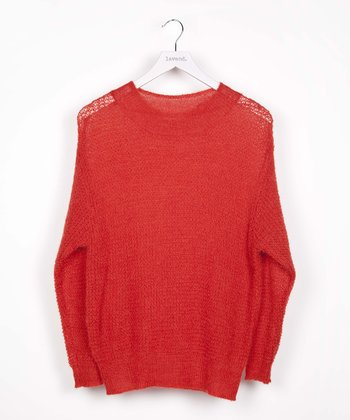 Red Mohair-Blend Sweater