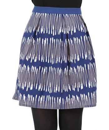 Blue Abstract Skirt