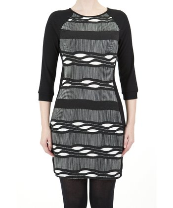Black & White Abstract Dress