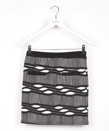 Black & White Abstract Skirt