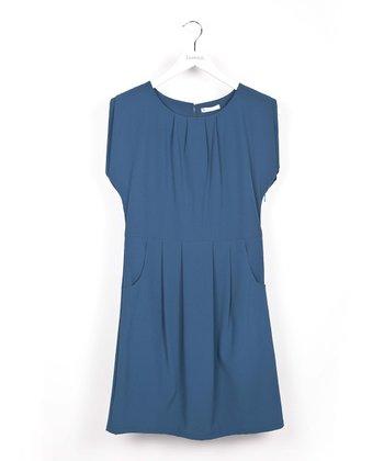 Dark Blue Pocket Dress
