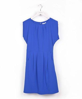 Blue Pocket Dolman Dress
