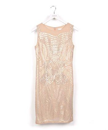 Pink Sequin Wave Dress