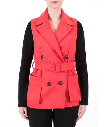 Red Belted Vest