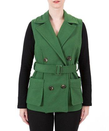 Green Belted Vest