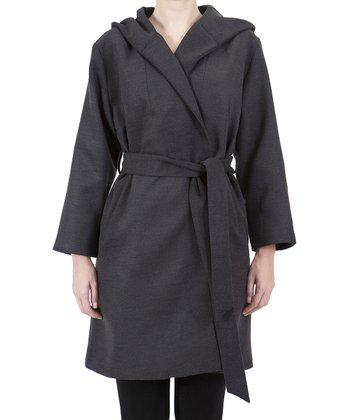 Gray Wrap Trench Coat