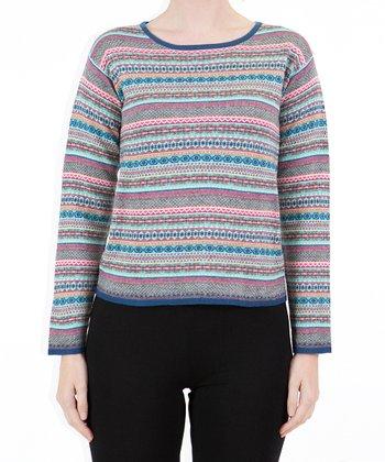 Gray Stripe Sweater