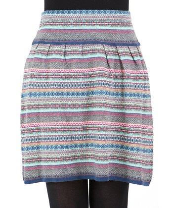 Gray Stripe Skirt