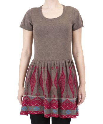Brown Tribal Dress