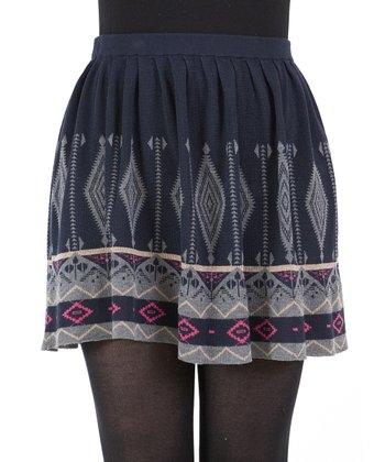 Blue Tribal Skirt