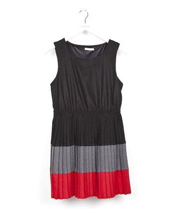 Black Color Block Dress