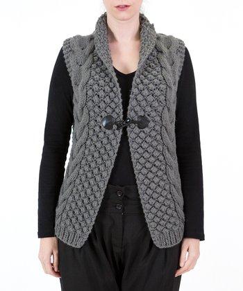 Gray Toggle Sweater Vest