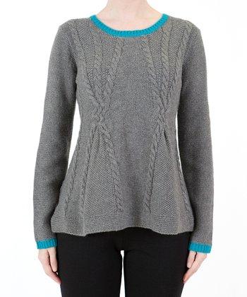 Gray & Blue Sweater
