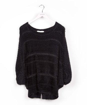 Black Stripe Dolman Sweater