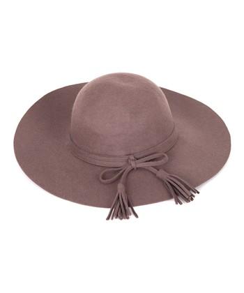 Brown Tassel Wool Hat
