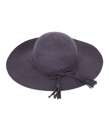 Gray Tassel Wool Hat