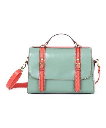 Green Long Messenger Bag