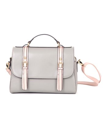 Gray Long Messenger Bag