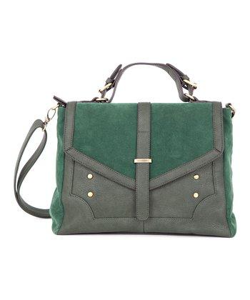 Green Envelope Messenger Bag