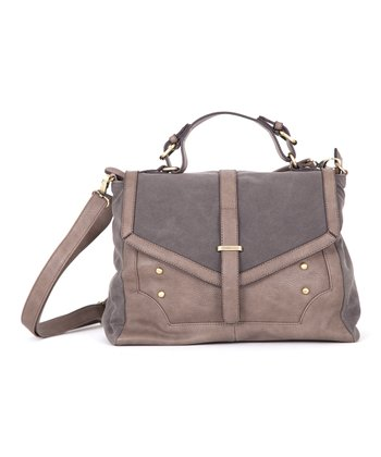 Gray Envelope Messenger Bag