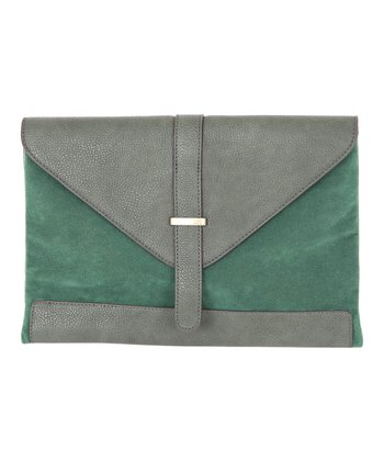 Green Envelope Clutch