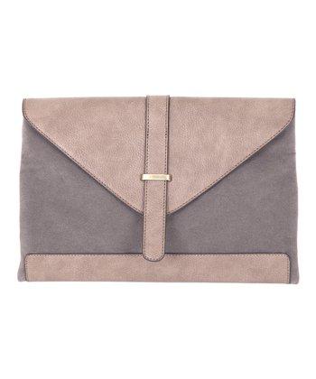 Gray Envelope Clutch