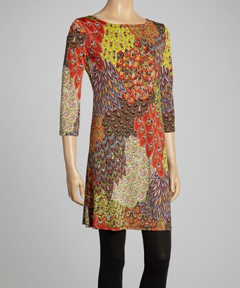 Brown Peacock Dress