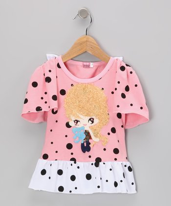 Pink Girl Polka Dot Dress - Infant, Toddler & Girls