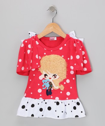 Red Girl Polka Dot Dress - Infant, Toddler & Girls