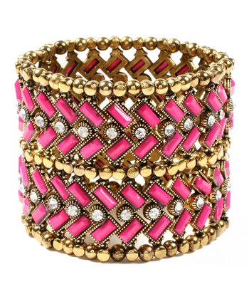 Fuchsia Thompson Street Stretch Bracelet