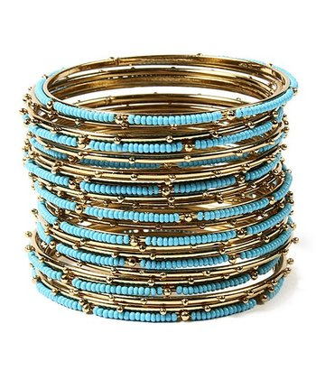 Turquoise Goa Bangle Set