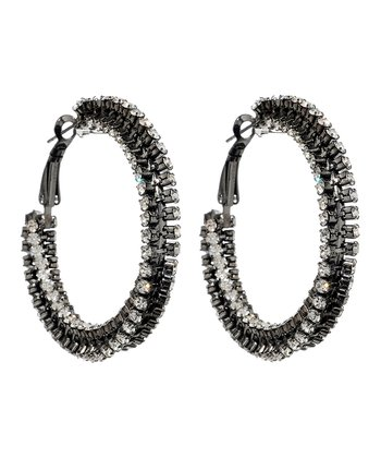 Gunmetal Jennifer Hoop Earrings