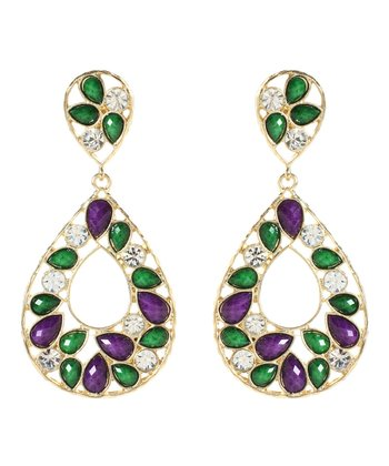 Amethyst & Evergreen Hampton Color Block Drop Earrings
