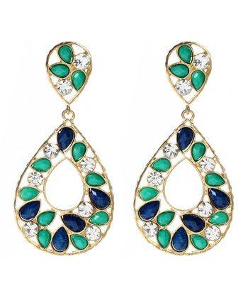Lapis Blue & Turquoise Hampton Color Block Drop Earrings