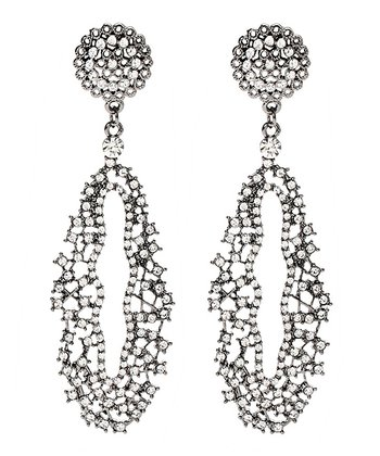 Gunmetal Iris Drop Earrings