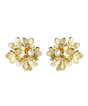 Gold Nikki Stud Earrings