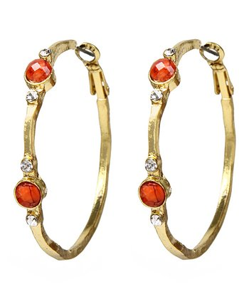 Coral Haze Watermill Hoop Earrings