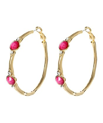 Fuchsia Watermill Hoop Earrings