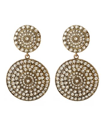 Antique Gold Raisa Drop Earrings