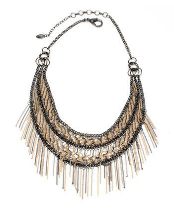 Gunmetal & Gold Chicomo Bib Necklace