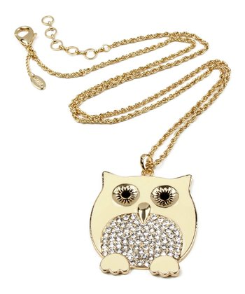 Ivory Chubby Owl Pendant Necklace