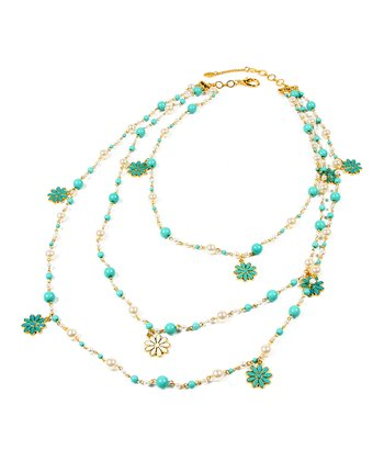 Turquoise & Gold Madeline Necklace