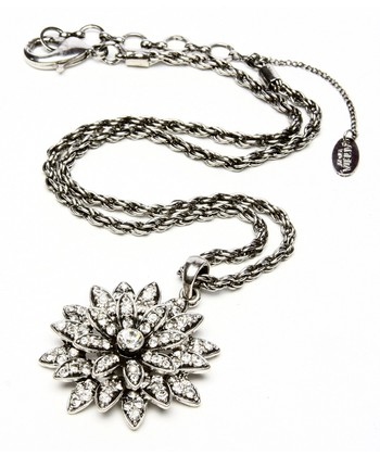 Antique Silver Farrah Pendant Necklace