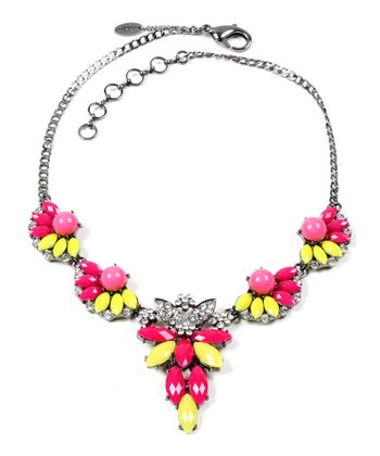 Fuchsia & Yellow Melissa Necklace