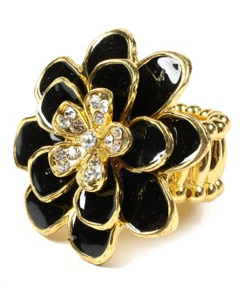Black & Gold Greenport Stretch Ring